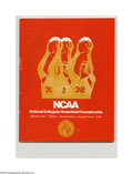 Basketball Collectibles:Programs, 1971 NCAA Final Four Program. High-grade specimen from this classicNCAA event is NRMT except for light wear on spine. Fina...