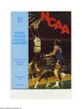 Basketball Collectibles:Programs, 1975 NCAA Final Four Program. High-grade specimen from this classicNCAA event is NRMT except for light wear on spine. Fina...