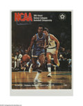Basketball Collectibles:Programs, 1976 NCAA Final Four Program. High-grade specimen from this classicNCAA event is NRMT. Final Four Teams: Indiana, UCLA, Mi...