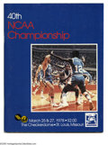 Basketball Collectibles:Programs, 1978 NCAA Final Four Program. High-grade specimen from this classicNCAA event is NRMT. Final Four Teams: Kentucky, Arkansa...