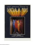 Basketball Collectibles:Programs, 1981 NCAA Final Four Program. High-grade specimen from this classicNCAA event is NRMT. Final Four Teams: Indiana, Louisian...