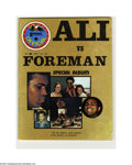 Boxing Collectibles:Memorabilia, 1974 Ali vs. Frazier/Foreman Publications. Pair of special albums were released in the days surrounding these historic even...