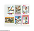 Football Cards:Lots, 1972-1976 Roger Staubach Topps Football Lot of 6....