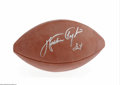 Football Collectibles:Balls, Walter Payton Signed Football. Perfect sharpie signature on an Official N.F.L. football. COA from Walter Payton, Inc. LO...