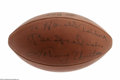 Football Collectibles:Balls, Johnny Unitas Single Signed Football. The heroic Baltimore Colts leader inscribed this Official Rozelle ball to a friend in...