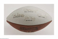 Football Collectibles:Balls, Green Bay Packers Legends Signed Football. Limited edition (of 5000) football is signed in strong black sharpie by Nitschke...
