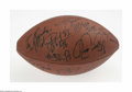 Football Collectibles:Balls, Late 1990's New York Giants Signed Football. Eight perfect black sharpie signatures on an Official N.F.L. football include ...
