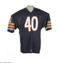 Football Collectibles:Others, Gale Sayers Signed Jersey. One of the most beloved players to ever suit up for the Chicago Bears, Sayers has signed this hi...