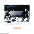 Hockey Collectibles:Others, Bill Durnan Photo With Cut Signature. Classic framed photo with clean cut signature in black ink of Montreal Canadian great ...