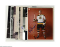 """Hockey Collectibles:Others, Boston Bruins Signed Photographs Lot of 10. Selection of 8x10"""" photos feature perfect blue sharpie signatures from such Bos..."""