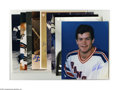 """Hockey Collectibles:Photos, New York Rangers Signed Photographs Lot of 17. Fine assortment of8x10"""" photos offer perfect blue sharpie signatures from s..."""