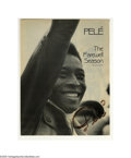 "Autographs:Others, Pele Signed Magazine Photo. Soccer great Pele personally signedmagazine story titled ""The Farewell Season"" in bold marker. ..."