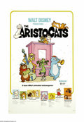 "Movie Posters:Animated, The Aristocats (Buena Vista, R-1980). One Sheet (27"" X 41""). This was the first animated film put out by the studio after Wa..."