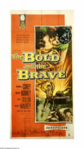 "Movie Posters:War, The Bold and the Brave (RKO, 1956). Three Sheet (41"" X 81"").Wendell Corey, Mickey Rooney and Don Taylor are three very diff..."