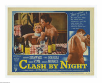"""Clash By Night (RKO, 1952). Lobby Card (11"""" X 14""""). """"Home is where you come to, when you run out of place..."""