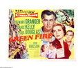 "Movie Posters:Adventure, Green Fire (MGM, 1954). Half Sheet (22"" X 28""). Stewart Granger isan emerald prospector who discovers a sizable find of the..."