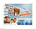 "Movie Posters:War, The Hunters (20th Century Fox, 1958). Half Sheet (22"" X 28"").Robert Mitchum and Robert Wagner star in this Korean War story..."