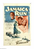 """Movie Posters:Drama, Jamaica Run (Paramount, 1953). One Sheet (27"""" X 41""""). The Daceyfamily (Arlene Dahl, Wendell Corey and Carroll McComas) have..."""