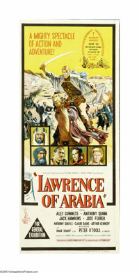 """Lawrence of Arabia (Columbia, 1962). Australian Daybill (13"""" X 30""""). David Lean's magnificent biographical tal..."""