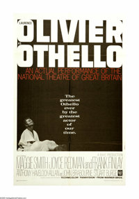 "Othello (Warner Brothers, 1966). One Sheet (27"" X 41""). Shakespeare's classic story of love, jealousy and envy..."