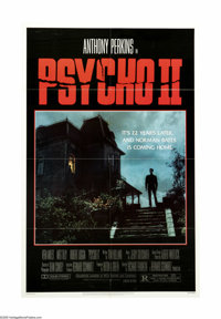 """Psycho II (Universal, 1983). One Sheet (27"""" X 41""""). 22 years later, and Norman Bates (Anthony Perkins) is out..."""