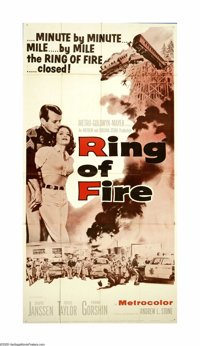 "Ring of Fire (MGM, 1961). Three Sheet (41"" X 81""). Small-town Oregon police sergeant David Janssen has his han..."