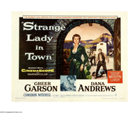 """Strange Lady in Town (Warner Brothers, 1955). Half Sheet (22"""" X 28""""). Greer Garson is the lady of the title, b..."""