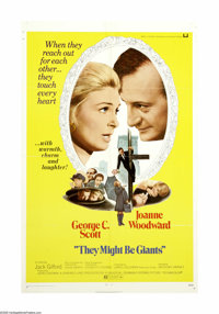 "They Might Be Giants (Universal, 1971). One Sheet (27"" X 41""). ""If we never looked at things and thought..."