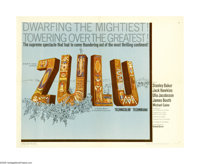 """Zulu (Paramount, 1964). Half Sheet (22"""" X 28""""). In Africa at the end of the 19th century, an army of Zulu warr..."""