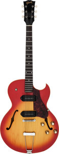 Musical Instruments:Electric Guitars, 1965 Gibson ES-125TDC Cherry Sunburst Semi-Hollow Body ElectricGuitar, Serial # 060529....