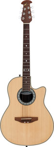 Musical Instruments:Acoustic Guitars, Ovation Celebrity Natural Acoustic Guitar, Serial # 0000107....