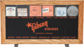 Music Memorabilia:Memorabilia, Gibson Strings Display Case....