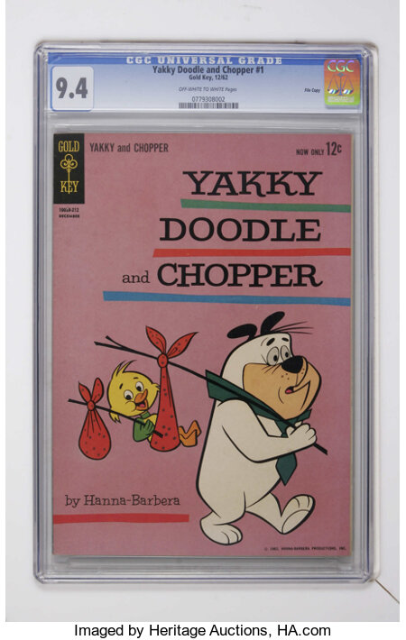Yakky Doodle and Chopper #1 (Gold Key, 1962) CGC NM 9.4 Off-white to white pages....