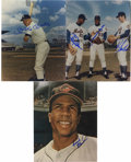 Baseball Collectibles:Photos, Trio of Autographed Baseball Photos. Offered are signed photos ofMickey Mantle, Frank Robinson and the outfield from the 19...