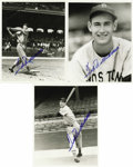 Autographs:Photos, Trio of Ted Williams Autographed Photos. Three black and white 8x10photos signed by Ted in blue sharpie are offered here. ...