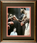 Boxing Collectibles:Autographs, Muhammad Ali and Joe Frazier Dual-Signed Photograph. One of theepic pugilistic rivalries on record has to be the Ali-Frazi...