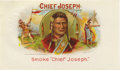 "Antique Stone Lithography:Cigar Label Art, Chief Joseph Cigar Label by Petre, Schmidt & Bergmann Lithographers of New York. A lithographed 10"" x 5.75"" inner la..."