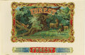 "Antique Stone Lithography:Cigar Label Art, Forest Wildlife Cigar Label by Ed. L. Graef, Newark, Ohio.Full color lithographed 10"" x 6.5"" inner label with gold-..."