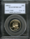Proof Washington Quarters: , 1992-S 25C Clad PR 70 Deep Cameo PCGS. ...