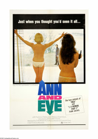 """Ann and Eve (Astral, 1970). One Sheet (27"""" X 41""""). Offered here is an original poster for this erotic drama st..."""