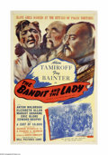 "Movie Posters:Action, The Bandit and the Lady (Bell Features, 1937). One Sheet (27"" X41""). Offered here is an original poster from this adventure..."