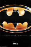 "Movie Posters:Action, Batman (Warner Brothers, 1989). One Sheet (27"" X 41"") Advance.Offered here is an original poster for this comic book thrill..."