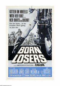 """Born Losers (AIP, 1967). One Sheet (27"""" X 41""""). Offered here is an original poster from this biker drama direc..."""