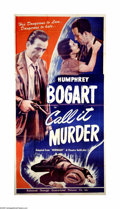"""Movie Posters:Crime, Call It Murder (Universal, R-1948). Three Sheet (41"""" X 81"""").Offered here is an original poster for this crime drama starrin..."""