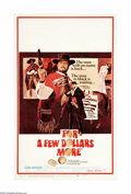 """Movie Posters:Western, For a Few Dollars More (United Artists, 1967). Window Card (14"""" X 22""""). Offered here is an original poster for this Western ..."""