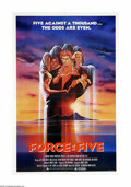 "Movie Posters:Action, Force: Five (American Cinema, 1981). One Sheet (27"" X 41""). Often referred to as the low-budget version of ""Enter the Dragon..."