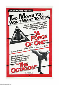 "A Force of One/The Octagon Combo (American Cinema, R-1980s). One Sheet (27"" X 41""). Offered here is an origina..."