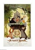 "Movie Posters:Animated, The Jungle Book (Buena Vista, R-1984). One Sheet (27"" X 41""). Offered here is an original poster for this animated musical c..."