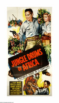 "Movie Posters:Adventure, Jungle Drums of Africa (Republic, 1953). Three Sheet (41"" X 81"").Offered here is an original poster for this action serial ..."