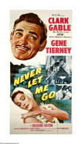 "Movie Posters:Adventure, Never Let Me Go (MGM, 1953). Three Sheet (41"" X 81""). Offered hereis an original poster for this romantic adventure directe..."